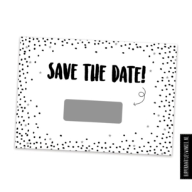 "Kraskaart ""Save the date"" DIY 10 stuks"