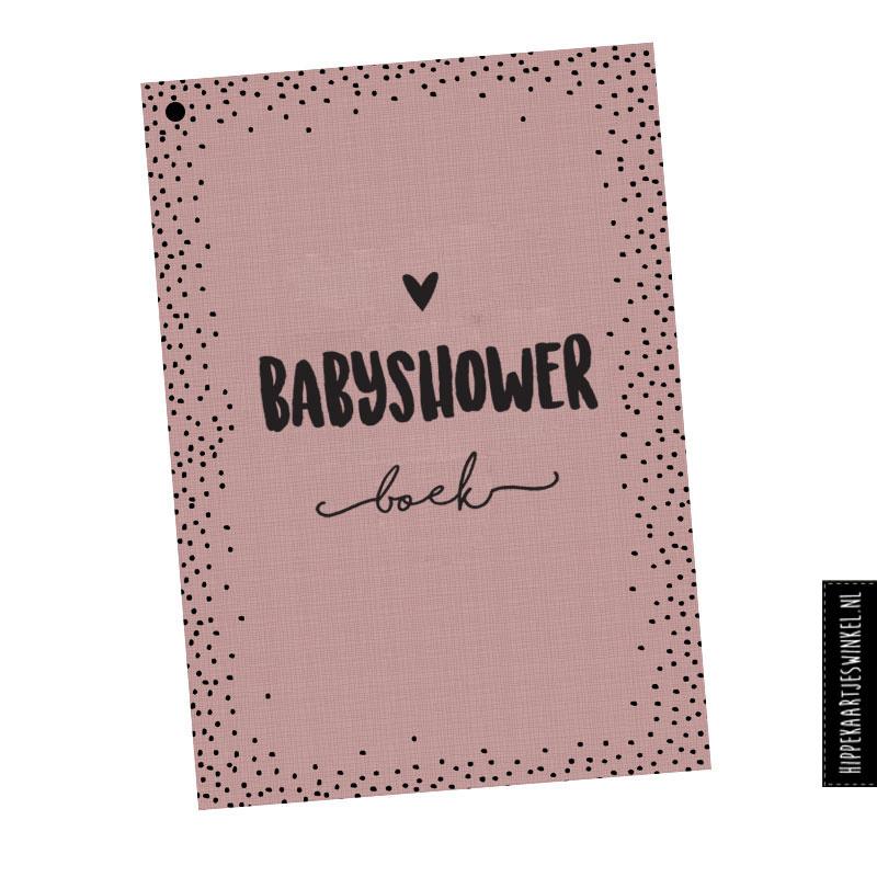 Babyshowerboek invulkaarten 25st. - roze