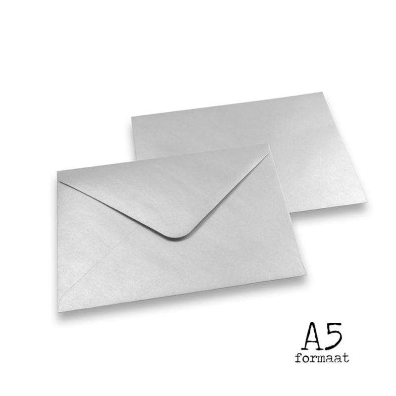 """Envelop """"Zilver"""" A5"""