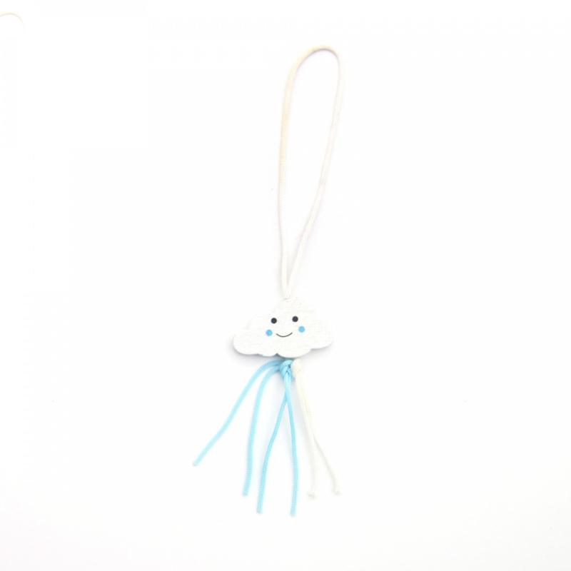 Gelukspoppetjes wolkjes blauw - 5 stuks