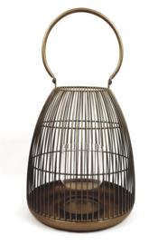 Metal Messing Cagelantern 25.5*25.5*29cm
