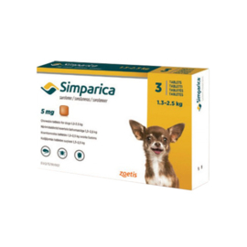 Simparica hond 1,3-2,5kg, 3 tabletten