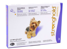 Stronghold hond 2,6 tot 5 kg, 3 pipetten