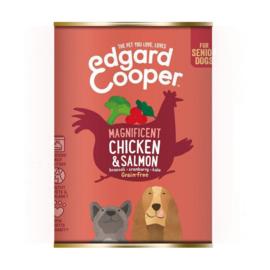 Edgar & Cooper kip en zalm 400gr