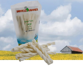 Farm Food Rawhide Pouch twists Large (10st)