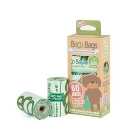 Becobags composteerbaar 4 rolletjes x 15 (60 zakjes)
