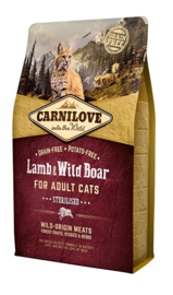 Carnilove Into The Wild Kat Lam en Everzijn 6 kg