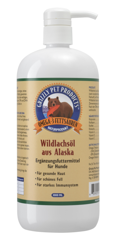 Grizzly wilde zalmolie 1000ml