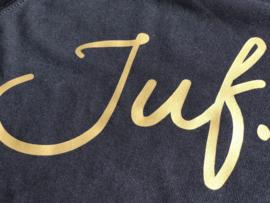 Zwart JUF. Ladyfit Sweater Krijt met Glanzend Goud
