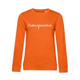 Oranje ONDERWIJSASSISTENT. Dames Sweater Krijt