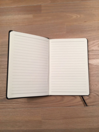Lichtblauw JUF. Notitieboekje Krijt