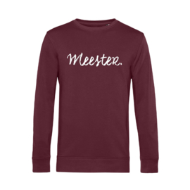 Bordeaux MEESTER. Lightweight Sweater Krijt