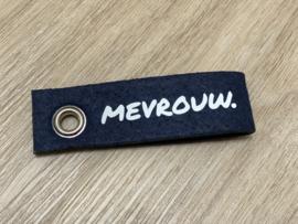 Donkerblauw MEVROUW. Vilten Sleutelhanger