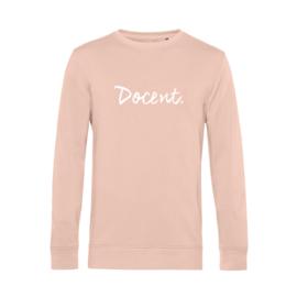 Pastel roze DOCENT. Heren Sweater Krijt