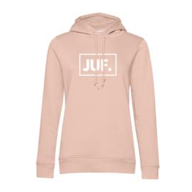 Pastel roze JUF. Hoodie klas