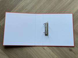 Rood JUF. A4 map 40mm met 2-rings