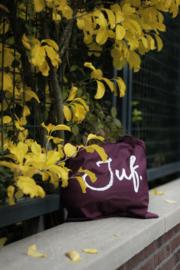 Bordeaux JUF. katoenen tas Krijt (Enkelzijdig)