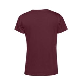 Bordeaux MEVROUW. Shirt Ronde hals