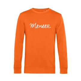 Oranje MENEER. Lightweight Sweater Krijt