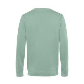 Pastel mint DOCENT. Heren Sweater Krijt