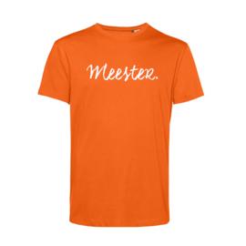 Oranje MEESTER. Shirt Krijt