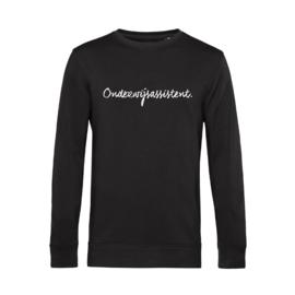 Zwart ONDERWIJSASSISTENT. Heren Sweater Krijt