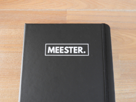 Zwart MEESTER. Notitieboekje Klas