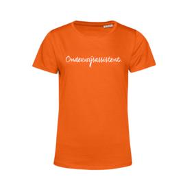Oranje ONDERWIJSASSISTENT. Shirt Ronde hals Krijt