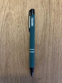 Donkergroen MEESTER. Pen Klas