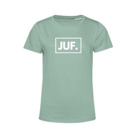 Pastel mint JUF. Shirt Ronde hals Klas