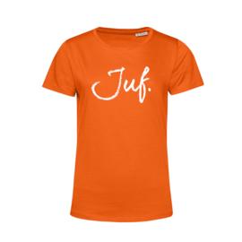 Oranje JUF. Shirt Ronde hals Krijt