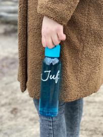 Turquoise JUF. Waterfles Krijt