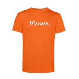 Oranje MENEER. Shirt Krijt