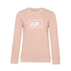 Pastel roze JUF. Ladyfit Sweater Klas
