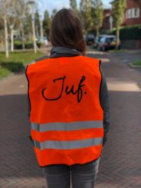 Fluor Oranje JUF. Veiligheidshesje Krijt