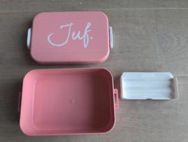 Lichtroze JUF. Lunchbox Krijt