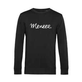 Zwart MENEER. Lightweight Sweater Krijt