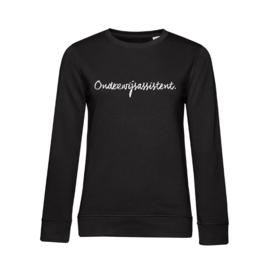 Zwart ONDERWIJSASSISTENT. Dames Sweater Krijt