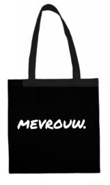 Zwart MEVROUW. katoenen tas Krijt (Enkelzijdig)