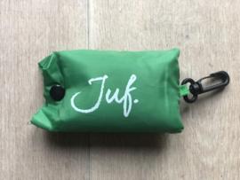 Groen JUF. boodschappentasje krijt