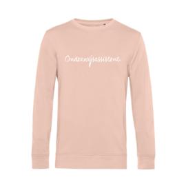 Pastel roze ONDERWIJSASSISTENT. Heren Sweater Krijt