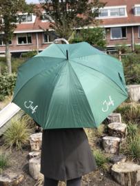 Donkergroen JUF. Paraplu Krijt
