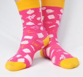 Roze JUF. sokken