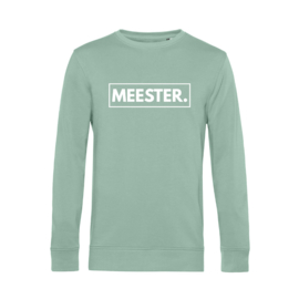 Pastel mint MEESTER. Lightweight Sweater Klas