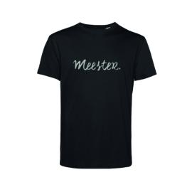 Zwart MEESTER. shirt Krijt met Glitter Zilver