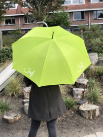 Lichtgroen JUF. Paraplu Krijt