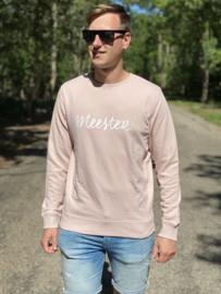 Pastel roze MEESTER. Lightweight Sweater Krijt