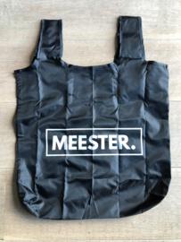 Zwart MEESTER. boodschappentasje Klas