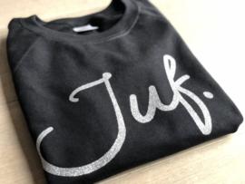 Zwart JUF. Ladyfit Sweater Krijt met Glitter Zilver
