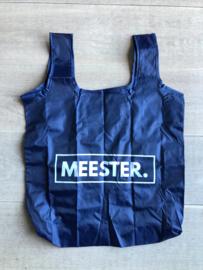 Donkerblauw MEESTER. boodschappentasje Klas